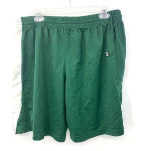 Champion Workout Active Green White Shorts Men XL